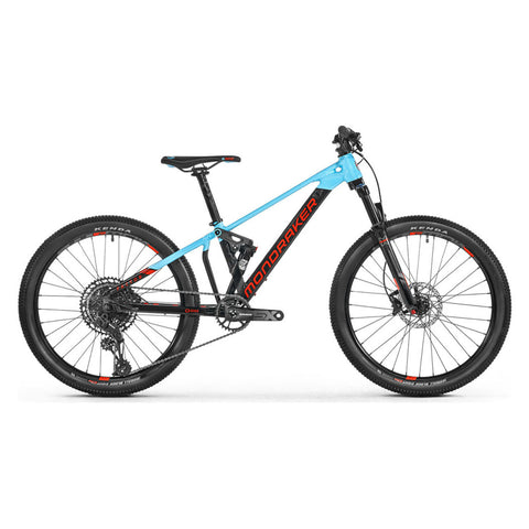 Mondraker - FACTOR 24 Bike in Black / Light Blue (KIDS | 2021) - ZEITBIKE