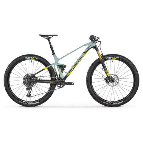 Mondraker - F-PODIUM CARBON DC R Bike in Green (XC RACE | 2021) - ZEITBIKE