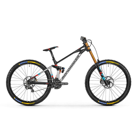 Mondraker - SUMMUM RR 29 Bike in Silver/Black/Red (DOWNHILL | 2021) - ZEITBIKE