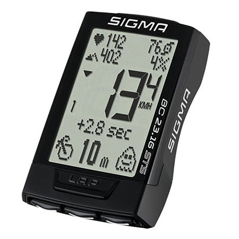 SIGMA Bicycle Computer - BC 23.16 STS, Digital Wireless - ZEITBIKE