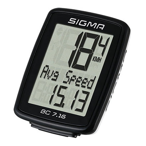 SIGMA Bicycle Computer - BC 7.16, Wired - ZEITBIKE