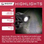 SIGMA Light - BUSTER 100, Power Light w/ optional NUGGET II Flash - ZEITBIKE