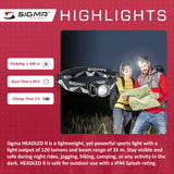 SIGMA Light - HEADLED II, All Round Head Light - ZEITBIKE