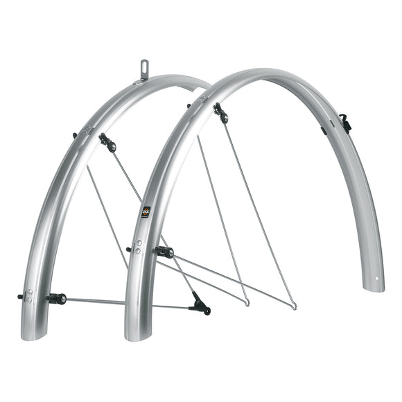 SKS - Bicycle Fender Set for Commuter (2pc Set) - Silver - ZEITBIKE
