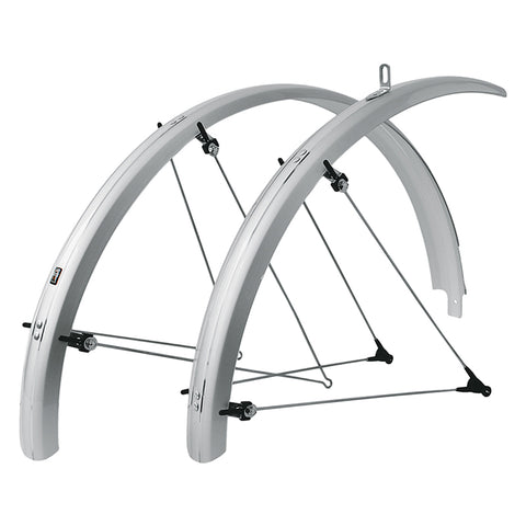 SKS - Bike Fender Set - B65 Blumel Commuter II (fits 700x2.1-2.35 and 29er) - Silver - ZEITBIKE