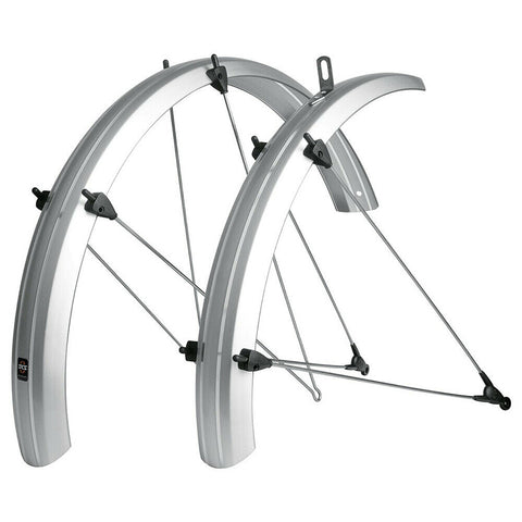 SKS - Recumbent/Folding Bike Fender Set - B53 Commuter (20x1-1.75) - Silver - ZEITBIKE