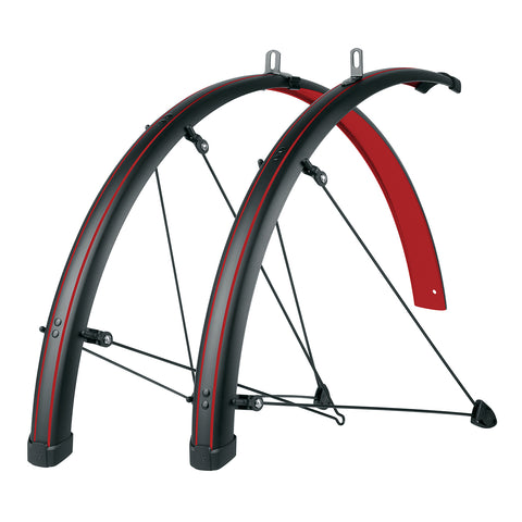 SKS - Bike Fender Set - Bluemels Stingray 45mm (700x28-37) - Blazing Red - ZEITBIKE