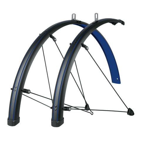 SKS - Bike Fender Set - Bluemels Stingray 45mm (700x28-37) - Ocean Blue - ZEITBIKE