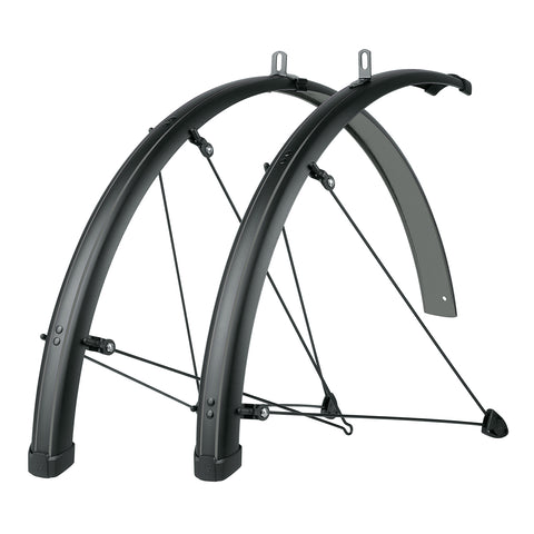 SKS - Bike Fender Set - Bluemels Stingray 45mm (700x28-37) - Grey - ZEITBIKE