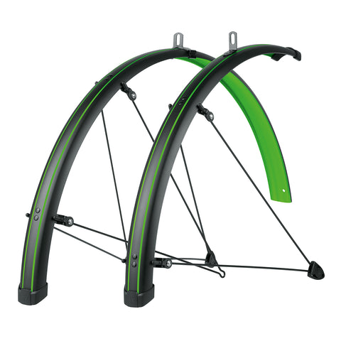 SKS - Bike Fender Set - Bluemels Stingray 45mm (700x28-37) - Lime Green - ZEITBIKE