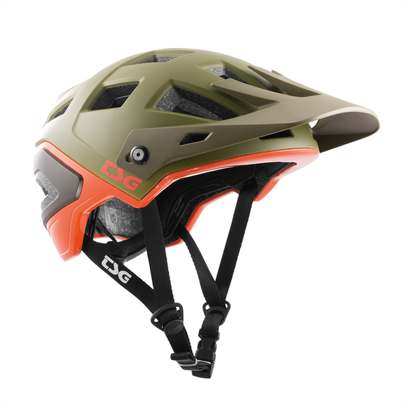 TSG - Helmet - Scope Graphic Design - Army Moss-Orange