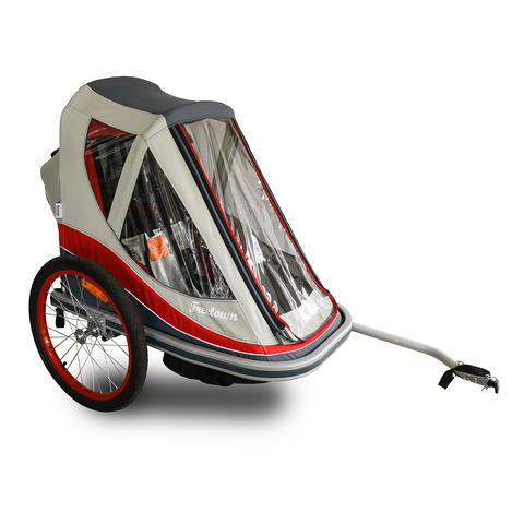 FREETOWN - Easy Breeze Kid Trailer - Red/Grey - ZEITBIKE