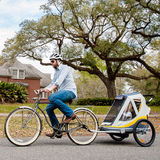 FREETOWN - Sweet Roll Kid Trailer & Stroller - Yellow/Grey - ZEITBIKE