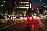 Rayo Smart Bicycle Tail Light w/ brake light, theft alert, group sync, and custom patterns - ZEITBIKE