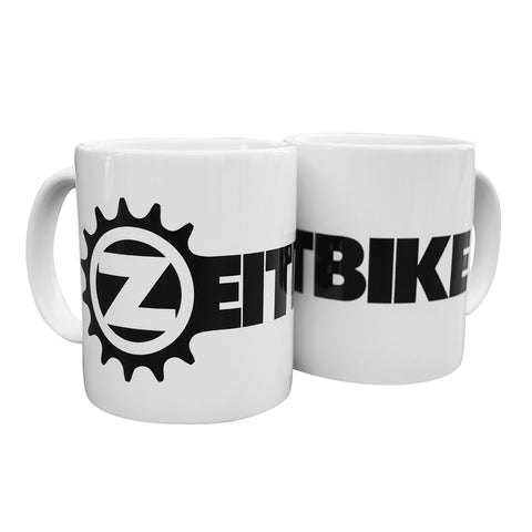 ZEITBIKE Coffee Mug - White w/ Black Logo - Ceramic - ZEITBIKE