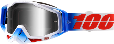 100% Racecraft Fourth Goggles w/Mirror Silver Lens