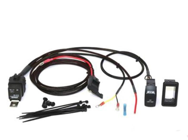 Plug & Play  Wire Harness with Sealed Fuse and Relay and Two LED Switch (Direct to Battery)