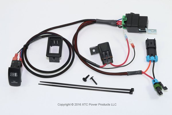 Premium Plug & Play Coolant Fan Override Switch Kit for Polaris RZR 2016 XP Turbo