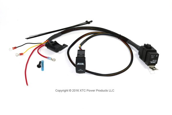 Plug & Play  Wire Harness with Sealed Fuse and Relay and Two LED Switch