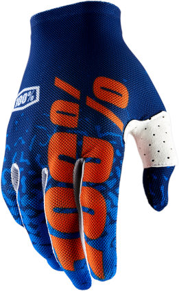 100% Celium 2 Flash Navy/Orange Gloves