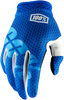 100% Blue I-Track Gloves