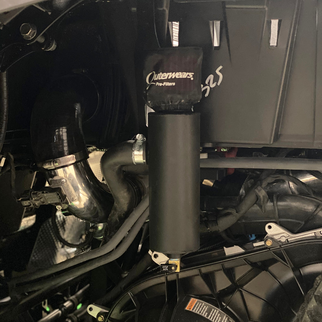 Treal Performance 2016-2019 RZR XPT Oil Catch Can/ Breather System - Gloss Black