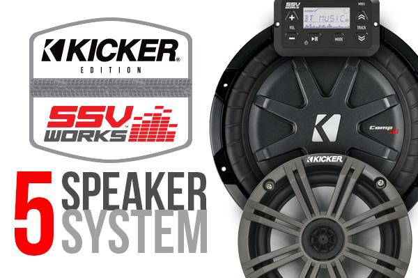 POLARIS RZR XP 1000 COMPLETE KICKER 5 SPEAKER PLUG-AND-PLAY SYSTEM