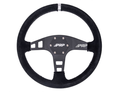PRP Flat Steering Wheel – Suede
