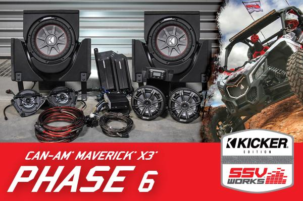 Can-am Maverick X3 Complete Kicker 6 Speaker Plug-and-Play System