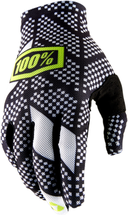 100% Men's Celium 2 Gloves - Black/White