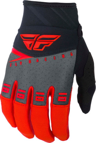 FLY RACING F-16 GLOVES RED/BLACK GREY