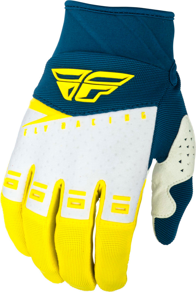 FLY RACING F-16 GLOVES YELLOW/WHITE/NAVY