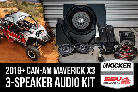 Can-am Maverick X3 Complete Kicker 3 Speaker Plug-and-Play System