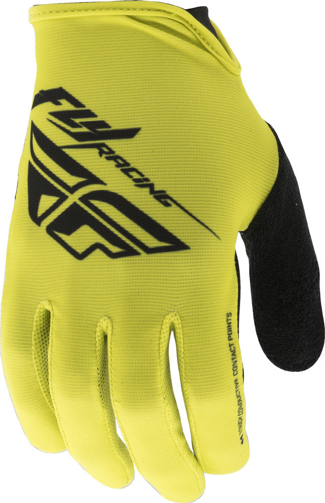 FLY RACING MEDIA GLOVES LIME/BLACK
