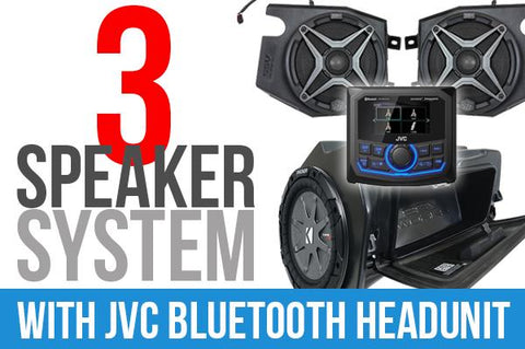 2019+ Polaris RZR XP1000 Complete SSV Works 3-Speaker Plug-&-Play Kit with JVC