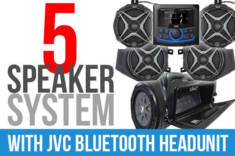 2019+ Polaris RZR XP1000 Complete SSV Works 5-Speaker Plug-&-Play Kit with JVC