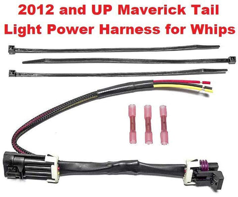 Can-Am Maverick X3 Tail Light Whip Power Harness Adapter Splice Pigtail Jumper