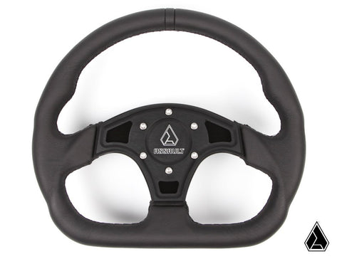 Assault Industries Black Stitch Ballistic D Steering Wheel