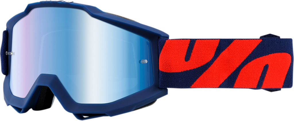 100% Raleigh Navy Accuri Goggle w/Blue Lens