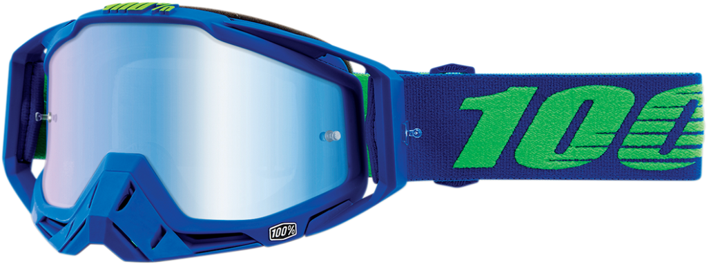 100% Blue Racecraft Dreamflow Goggles w/Blue Mirror Lens
