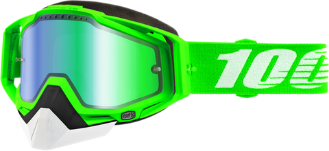 100% Racecraft Organic 2 Snow Goggles w/Green Mirror Lens