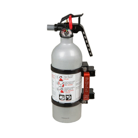 Quick release fire extinguisher mount w/ 2lb extinguisher