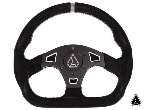 "Assault Industries Suede Ballistic ""D"" Steering Wheel (Universal)"