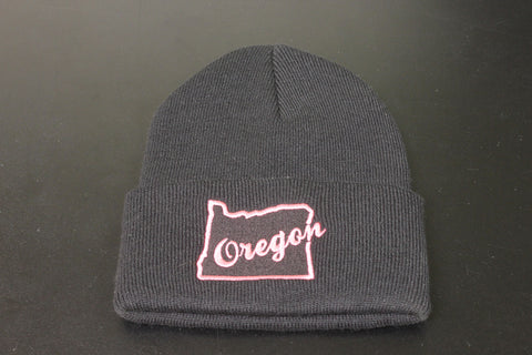Black Oregon Beanie