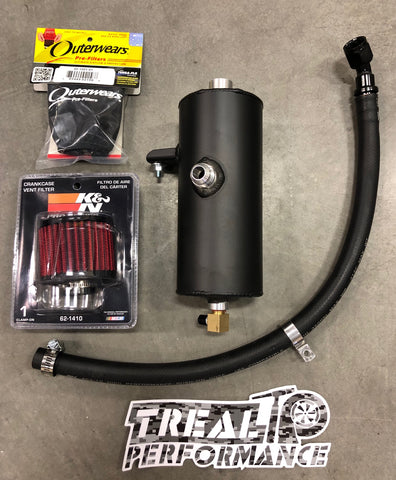 Treal Performance 2017-2019 Can-Am X3 Oil Catch Can / Breather System