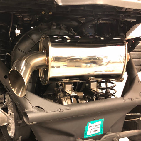Treal Performance  Can-Am X3 Quiet Trail Side Exit Exhaust System
