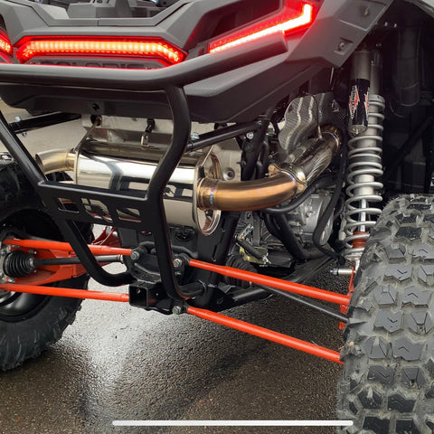 Treal Performance Polaris RZR XP Turbo Exhaust System - Dual Outlet