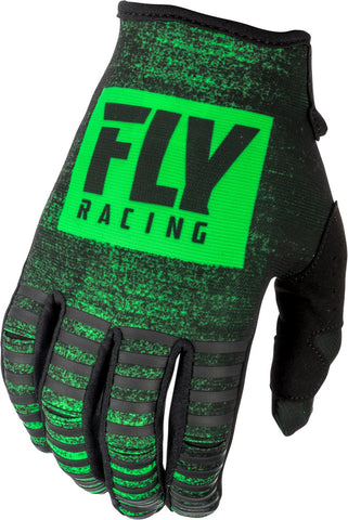 Fly Racing Youth Neon Green/Black Kinetic Noiz Gloves