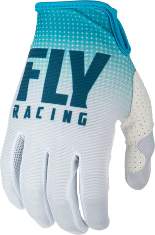 Fly Racing Blue/White Lite Gloves
