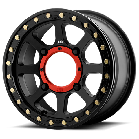 KMC XD XS234 Addict 2 Satin Black Beadlock Wheel Set 14X7 4X137 (10mm)